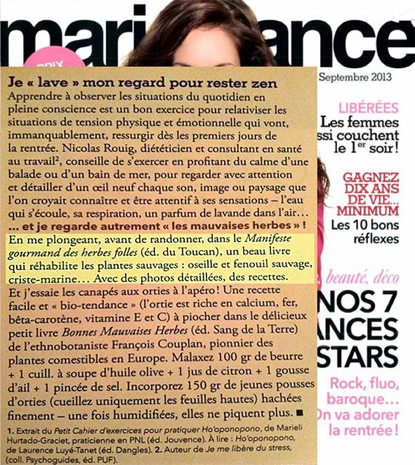 Marie France SEPT 2013