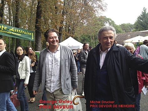 Michell Drucker et George Oxley arrivent à la Forêt des Livres 2013