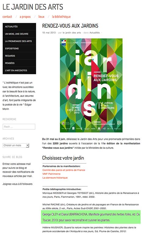 LE JARDIN DES ARTS