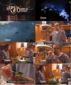 Laurent Bignolas et Olivier Grunewald dégustant les Herbes Folles